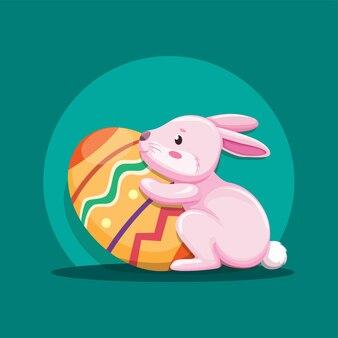 Coelhinho com ovo de páscoa
