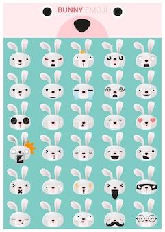 Coelhinho emoji ícones