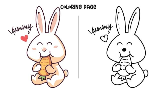Coelho comendo cenoura