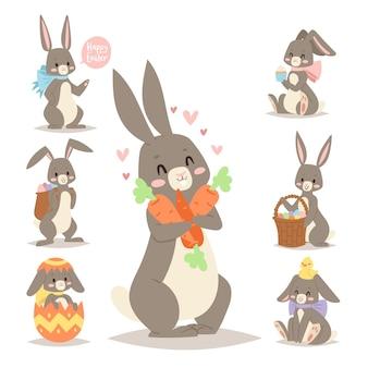 Coelho de férias coelho da páscoa