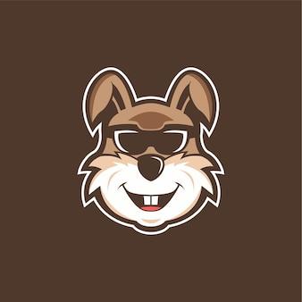 Coelho de mascote de logotipo
