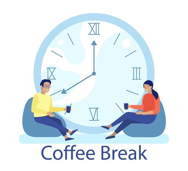 Coffee break com pessoas relaxantes