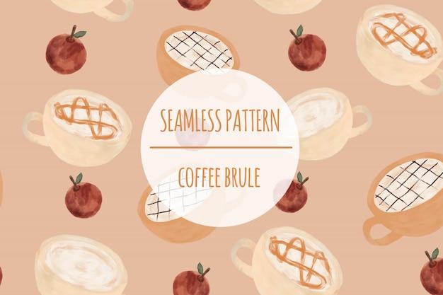 Coffee brule seamless pattern premium