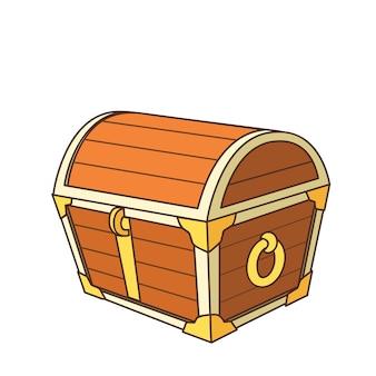 Cofre do tesouro dos desenhos animados