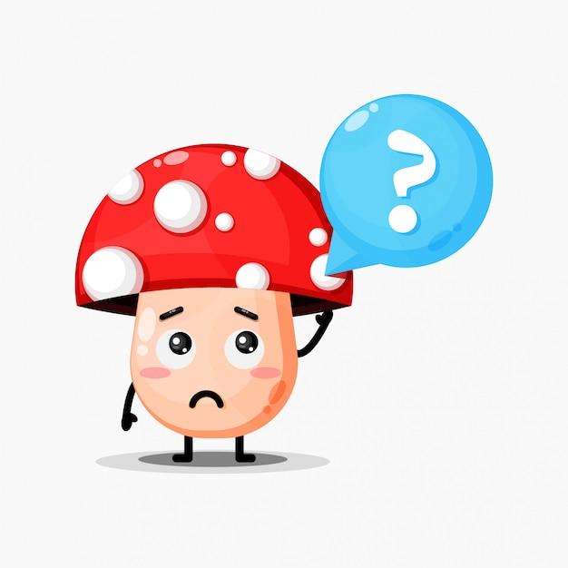 Cogumelo fofo está confuso