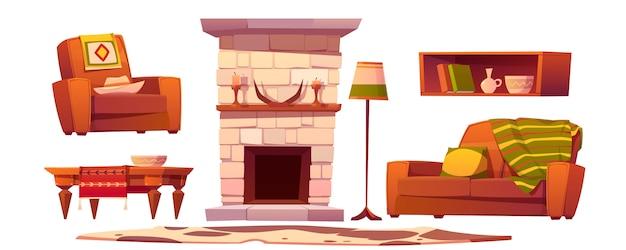 Coisas da sala de estar do oeste selvagem. estilo rústico ocidental