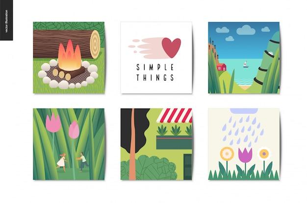 Coisas simples, cartões postais