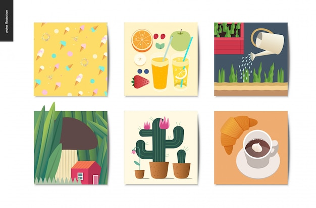 Coisas simples cartões postais