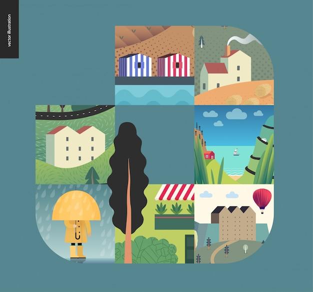 Coisas simples, composição de casas