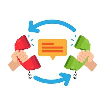 Colaboração de negócios. b2b, negócio de parceria