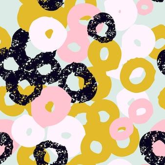 Colagem de cabeçalho de fundo colorido sem costura com diferentes formas e texturas de flores