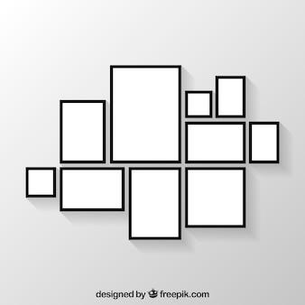Colagem de moldura de foto plana