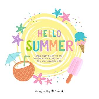 Colar cor de fundo de verão