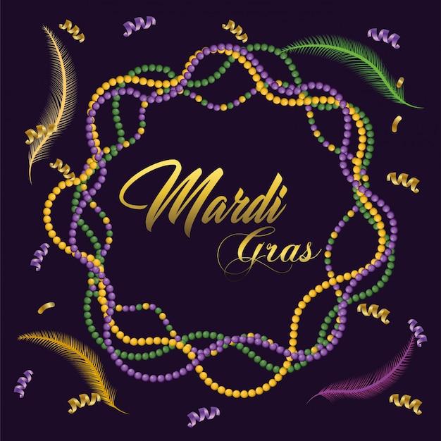 Colar de decoração para festa de merdi gras