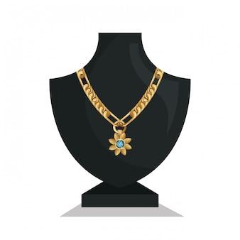 Colar de jóias de manequins ícone isolado