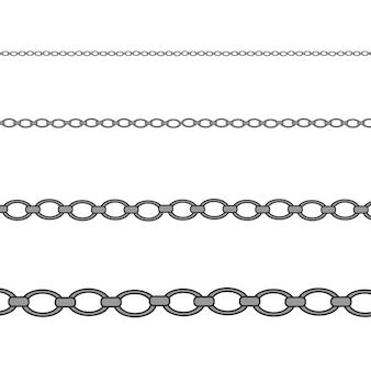 Colar de prata, platina. cadeia de jóias de luxo brilhante.
