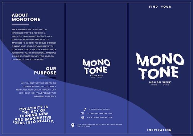 Colateral de marketing: modelo de folheto Vetor grátis