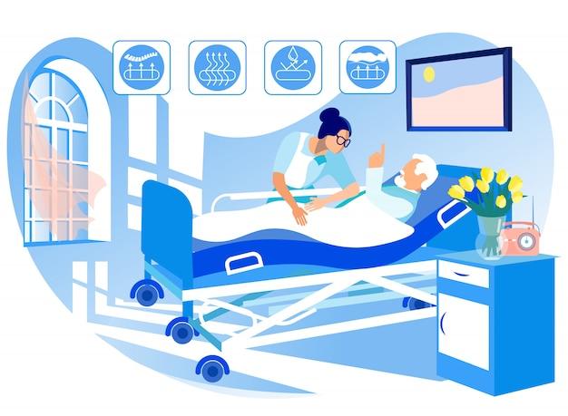 Colchão ortopédico para camas médicas.