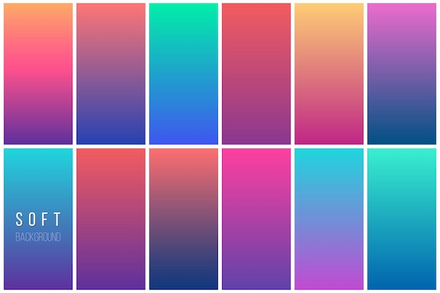 Coleção abstrata de fundo de vetor colorido
