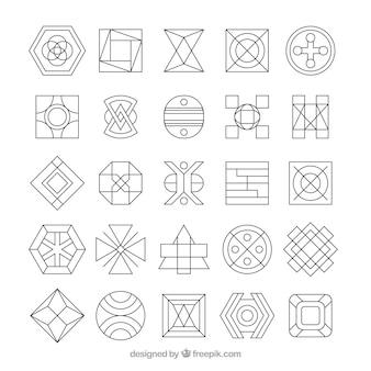 Coleção abstrata do logotipo da monolina