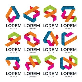 Coleção abstrata do logotipo geométrico