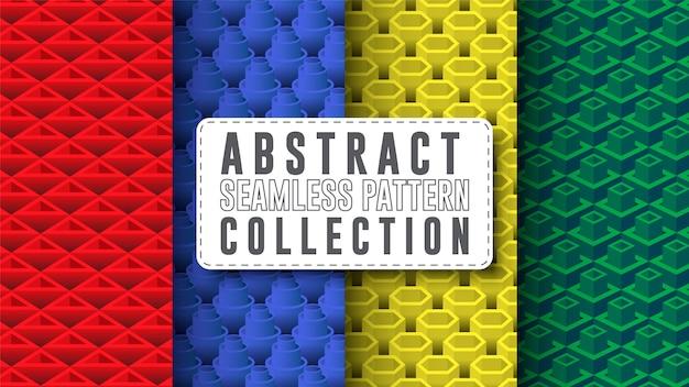 Coleção abstrata e geométrica padrão sem emenda