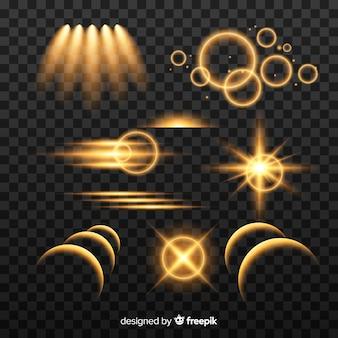 Coleção abstrata efeito de luz