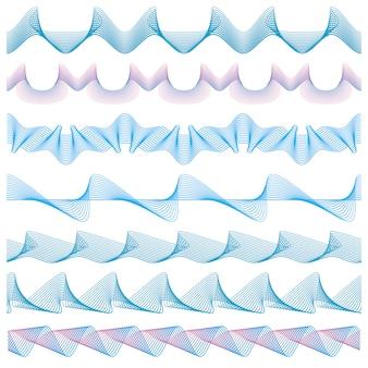 Coleção abstrata fronteiras onduladas