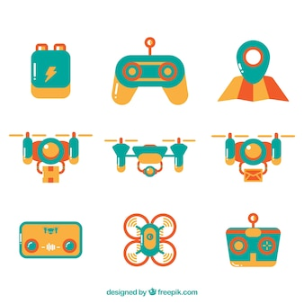 Coleção adorável de drone