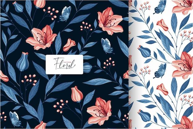 Coleção adorável floral padrão sem emenda