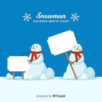 Coleção adorável personagem de inverno
