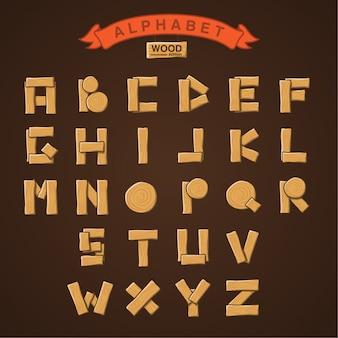 Coleção alphabet wood