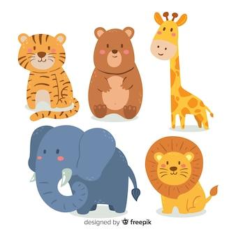 Coleção animal adorável