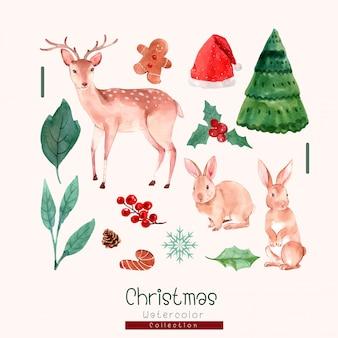 Coleção aquarela de natal