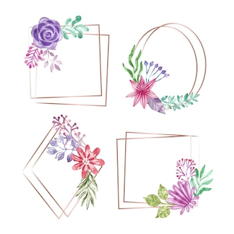 Coleção aquarela floral