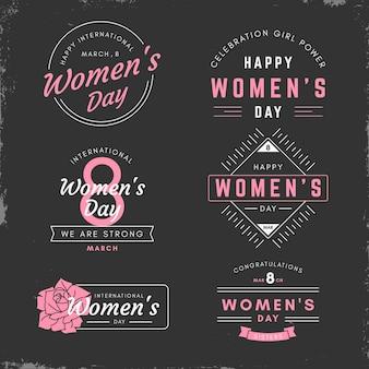 Coleção bagde para o dia da mulher