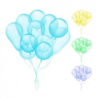 Coleção balões da cor