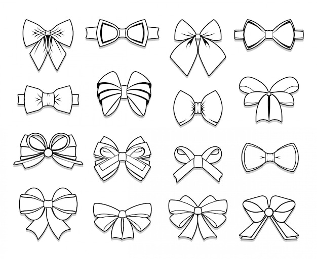 Coleção beautiful bows elements