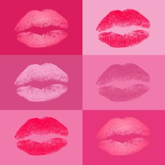 Coleção beijos colorido