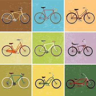 Coleção bicicletas vintage