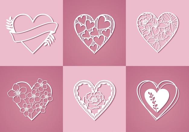 Coleção bonita do amor do monograma