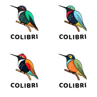Coleção bonito da mascote de passarinhos