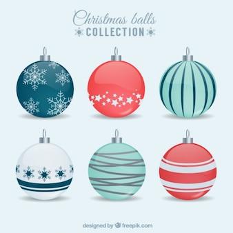 Coleção bonito de bolas de natal