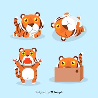 Coleção bonito do tigre