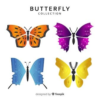 Coleção borboleta realista