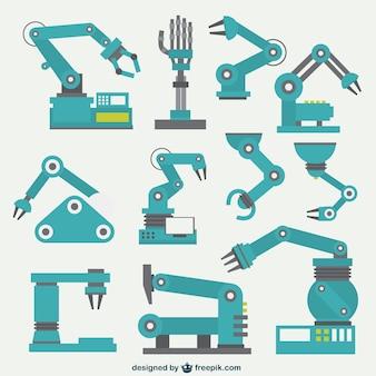 Coleção braços robóticos