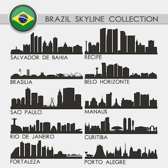 Coleção brazil city skyline