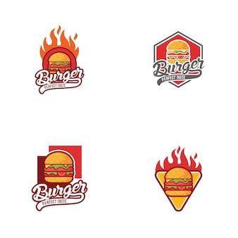Coleção burger logo