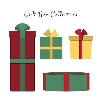 Coleção caixa de presente de natal