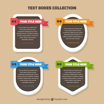 Coleção caixas de texto